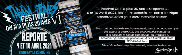 """Nouvelles dates pour le Festival """"On n'a plus 20ans VI"""""""