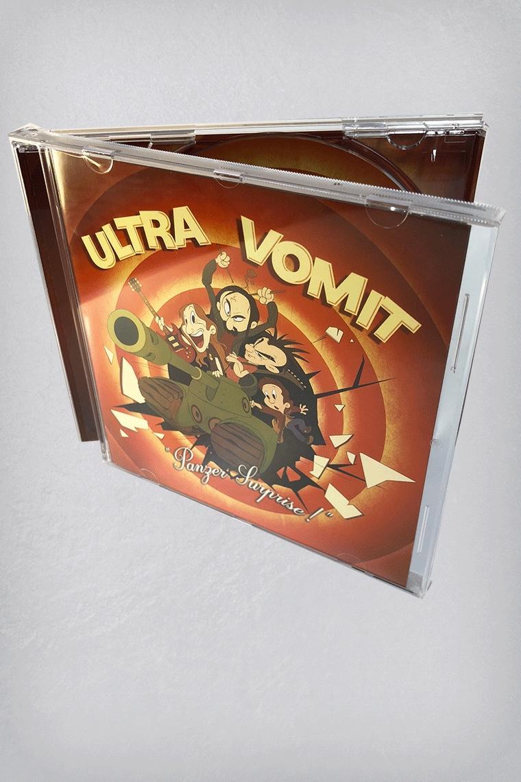 Panzer surprise est le 3ème album dultra vomit composé de 22 titres dont 22 énormes cet album est donc le digne successeur dobjectif thunes et est