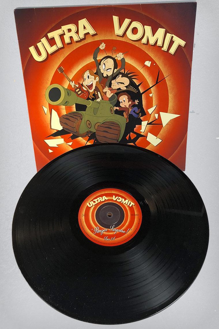 Lp vinyl ultra vomit panzer surprise vinyl de couleur noir